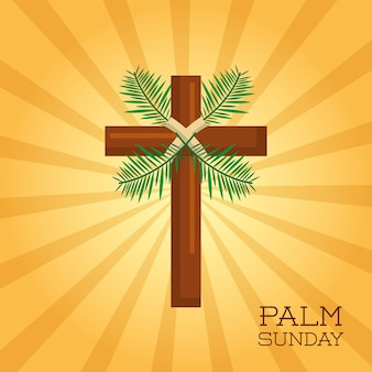 Palm sunday cross card celebration christianity