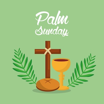 Palm sunday holi week cross bread