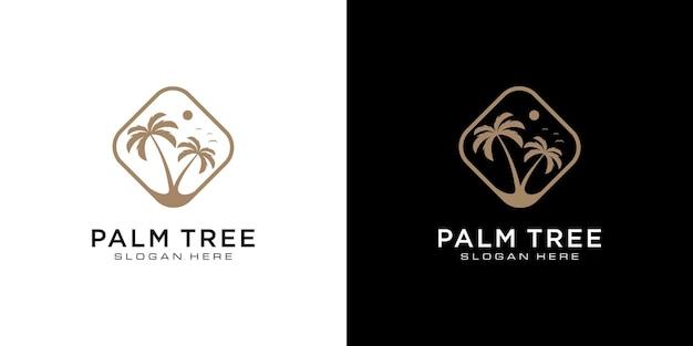 Дизайн логотипа пальмы