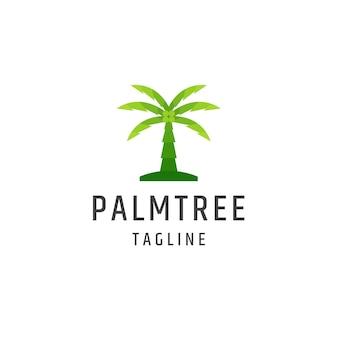 Palm tree logo icon flat design template illustration