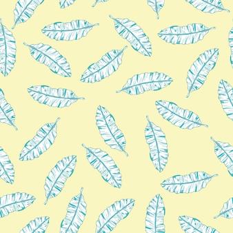 ヤシの木のパターン、エキゾチックなトレンディなシームレスな手描きのテクスチャ。