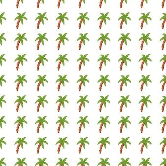 ヤシの木のシームレスなパターン。熱帯の背景。幾何学的な緑のヤシの壁紙。