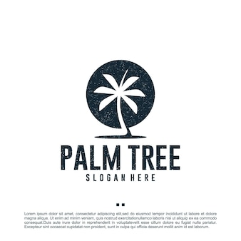 Palm tree , vacation , logo design template