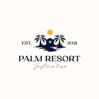 Пальма с шаблоном логотипа дома