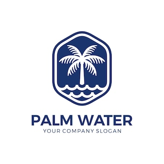 Palm and water logo