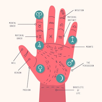 Palmistry concept