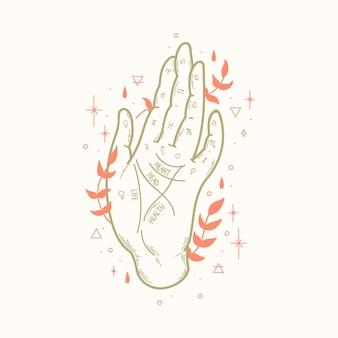 Palmistry mystical concept