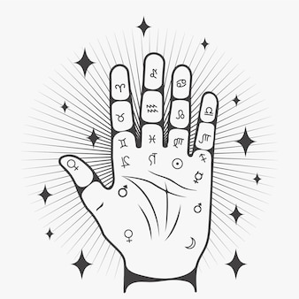Palmistry read concept
