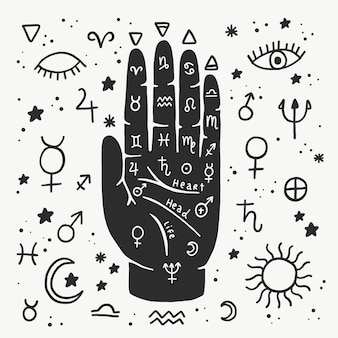 Palmistry with hand and predictions