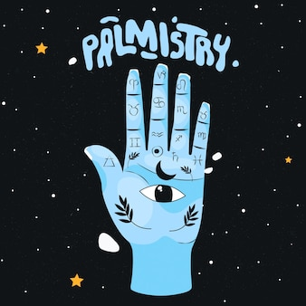 Palmistry with hand