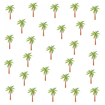 Palms pattern background cartoons