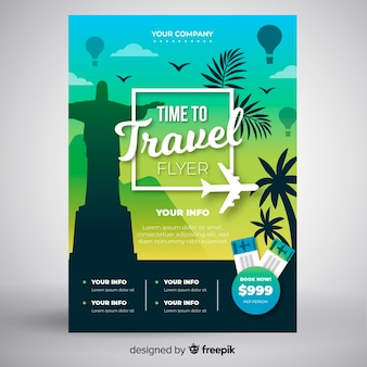 Palms travel poster template