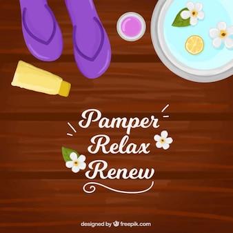 Pamper relax renew backgroound