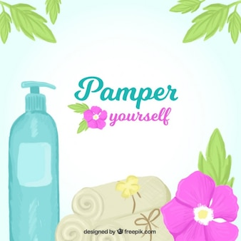 Pamper yourself background