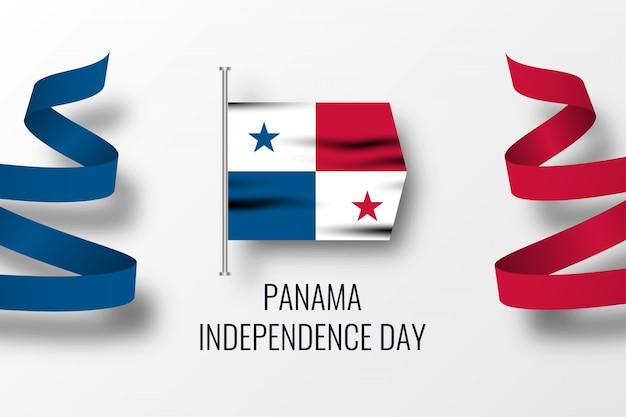 パナマ独立dyイラストテンプレートデザイン