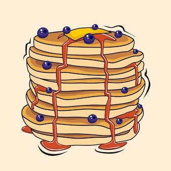 Pancake illustrations cartoon