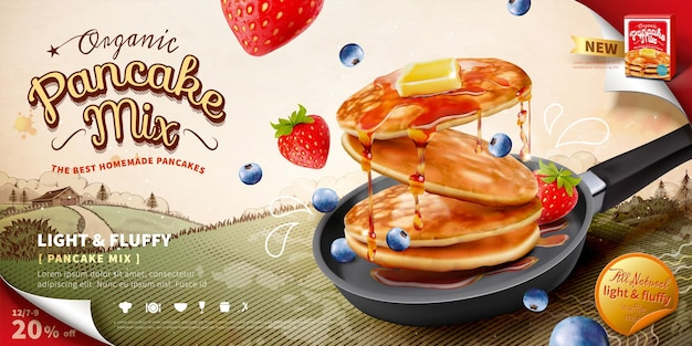 팬케이크 믹스 광고