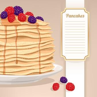 パンケーキとベリー