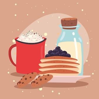 팬케이크와 우유