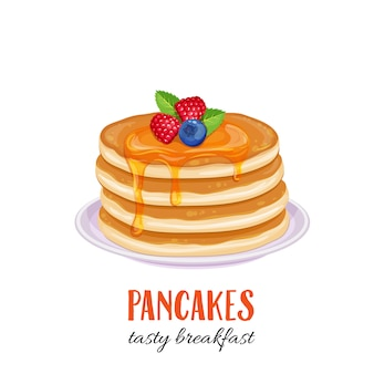 Pancakes illustration.