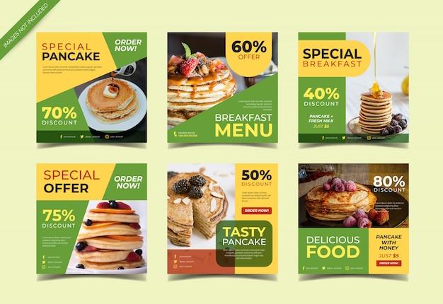 Pancakes menu instagram post collection