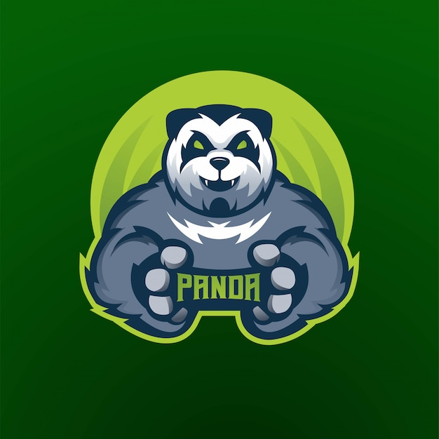 Логотип спортивного клуба панда киберспортивная команда