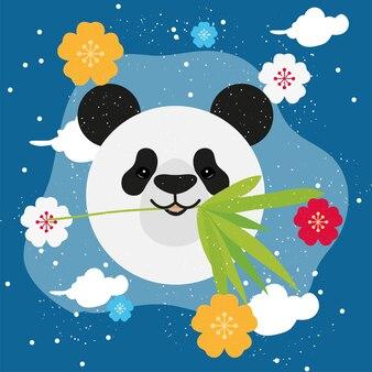 팬더 곰과 장식