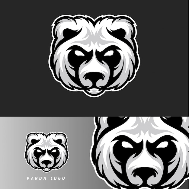Panda bear esport gaming mascot emblem