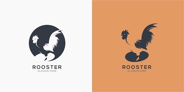 Panda bear silhouette logo design template logotype concept icon