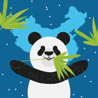 대나무와 팬더 곰