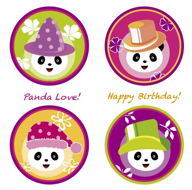 Panda birthday love