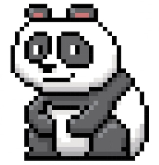 Panda cartoon pixel design