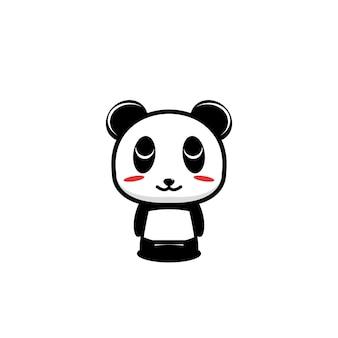 Panda cute cartoon design illustration mascot cartoon