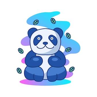 팬더 귀여운 일러스트 마스코트 로고 캐릭터