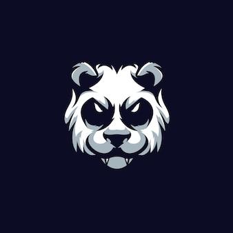 Шаблон логотипа спортивной команды panda