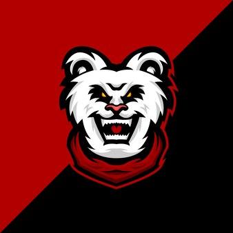 Panda e спортивный дизайн логотипа