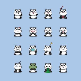 パンダの絵文字、かわいいパンダの表情