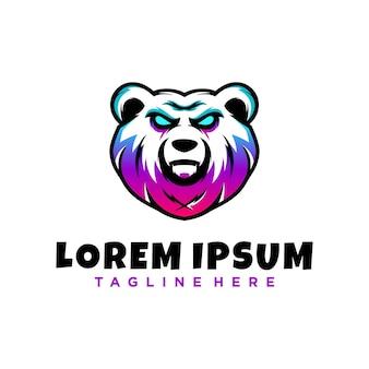 Панда киберспорт дизайн логотипа талисмана