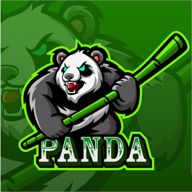 Логотип талисмана panda esport