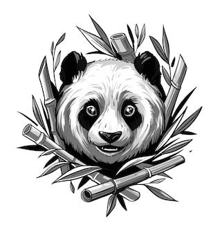 パンダの顔イラスト。