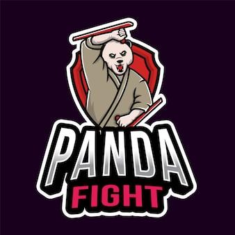 パンダファイトエスポートのロゴのテンプレート