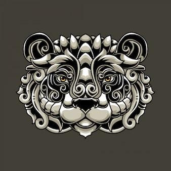 Голова панды изысканная иллюзия