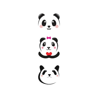 Panda icon template vector illustration design