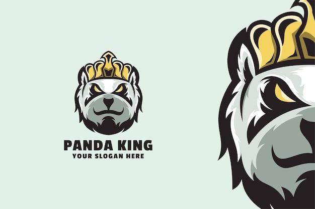 Шаблон логотипа король панды