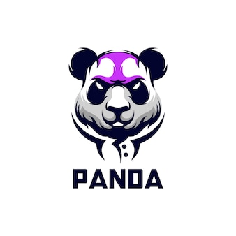 Panda logo design illustration