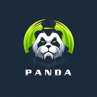 Panda logo design vector illustration template ready to use