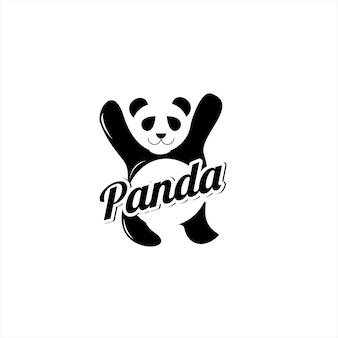 팬더 로고 현대 간단한 재미 동물