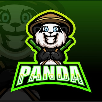 Panda mascot esport illustration