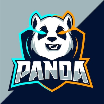 Panda mascot esport logo design