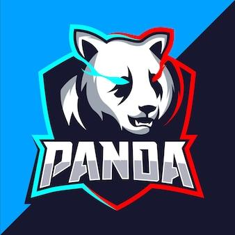 パンダマスコットeスポーツのロゴデザイン